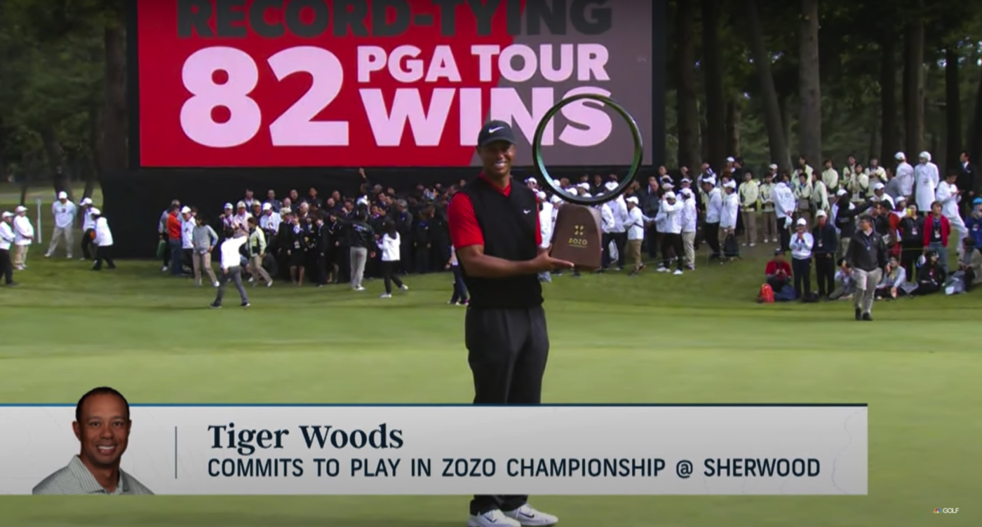 TIger Woods at the 2019 Zozo Championship